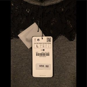 Zara Sweaters - NWT ZARA Black Lace Collar Sweater